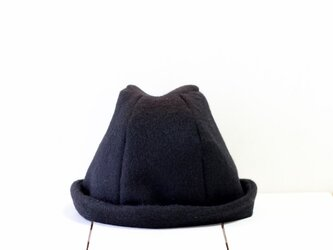 HELMA HAT | SHAGGYWOOL c/#BLACK【L:58~61cm】の画像