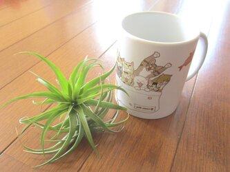 猫いっぱいマグカップ【送料無料】の画像