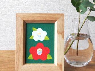 和な雰囲気の椿 ミニ額の画像