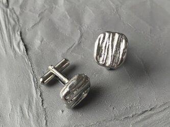 錫イヤリング 四角の画像