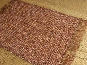 草木染め 手織りテーブルセンター TS01の画像
