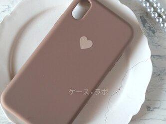 iphoneSE2*スマホケース ハートラブラウンiPhoneケース iPhoneXR iPhone11pro iphone11の画像