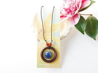 藍染コットンボールネックレスの画像