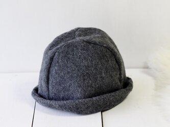 HELMA HAT | SHAGGYWOOL c/#DARKGRAY【L:58~61cm】の画像