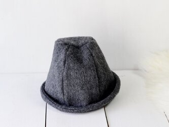 HELMA HAT | SHAGGYWOOL c/#DARKGRAY【M:55~58cm】の画像