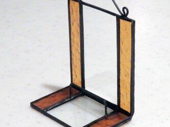 ステンドグラス ディスプレイスタンド (蘭茶色)の画像