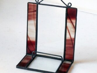 ステンドグラス 模様ガラスのディスプレイスタンドの画像