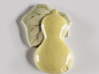 ひょうたん箸置き 黄の画像