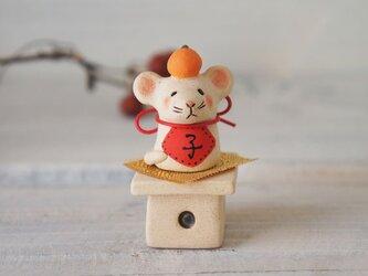 【陶器の小さなちいさな干支飾り】*子cの画像