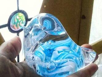 ガラスの青い鳥✱ご注文前に在庫の有無をお問い合わせ下さいの画像