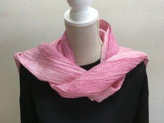 草木染め 手織りシルクストール ST 15の画像