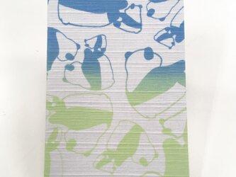 御朱印 パンダ パステルカラー ブルー&グリーンの画像