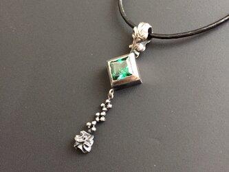 square green - 革紐ネックレスの画像
