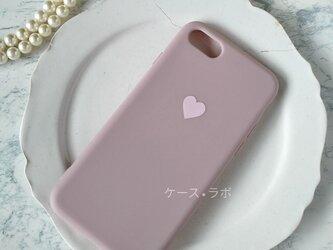 iphoneSE2*スマホケース ハートラベンダ iPhoneケース iPhoneXR iPhone11pro iphone11の画像
