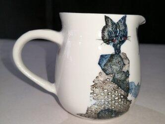 励ます猫と (湯冷まし)の画像