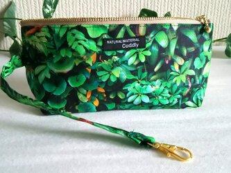 深緑の庭 持ち手付きペンケース(大)の画像