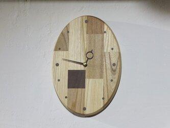 パッチワーク壁掛けクロック(オーバルタイプ)の画像