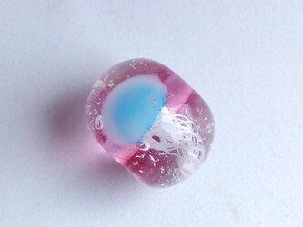 クラゲのとんぼ玉 ピンク2の画像