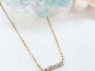 K10 ダイヤモンド5デザインネックレス 日本製」の画像