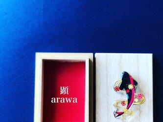 鯉 菊花紋章/ Carp(ブローチ)【和柄アートアクセサリー】の画像