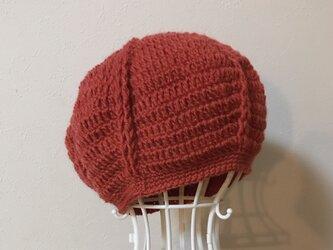 ウールのまあるいニット帽の画像