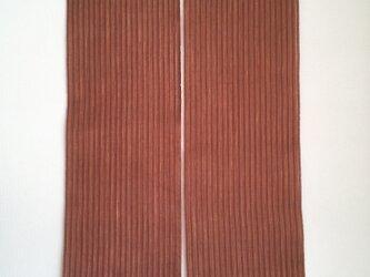 柿渋染め 手織り暖簾(長) NR01の画像