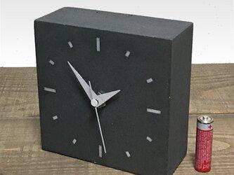 コンクリート置き時計ブラック C-type《送料無料》の画像