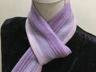 草木染め 手織りシルクカシミヤ プチマフラー MF01の画像