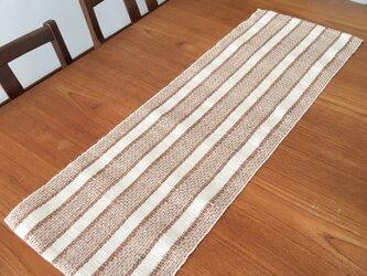 草木染め 手織りテーブランナー TR02の画像