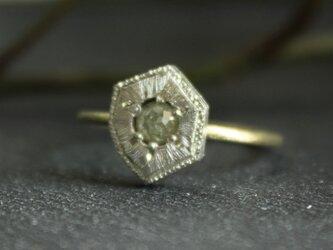 Fragment Rosecut Raw Diamond ring FMR-8の画像