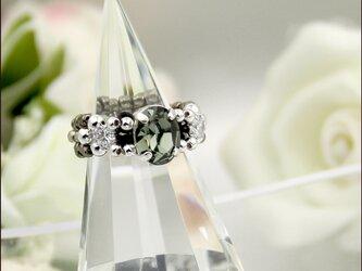 スワロフスキー Black Diamond Ring【スワロフスキー(ブラックダイヤモンド)/ジルコニア ビーズリング】の画像