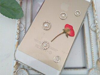 iPhone Android スマホケース ミニ薔薇の画像