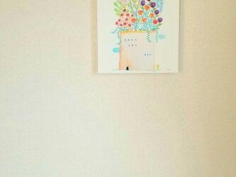 ~GrowingFlowers~キャンバスパネルプリントsonojiillustrationの画像