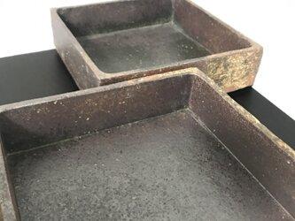 焼締掛け分け角深鉢(中・約六寸)の画像