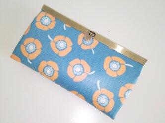アネモネ(ブルー)ラミネート 長財布 の画像