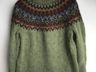 アイスランドロピセーター 手編みの画像