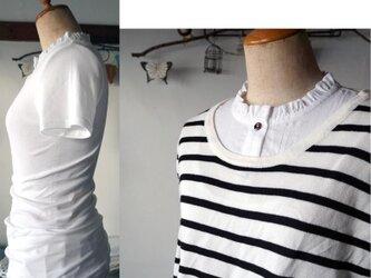 真っ白付け襟のインナーバージョン(白半袖フリル襟)の画像