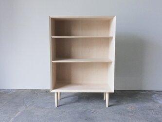 本棚 ブックシェルフ シンプルなデザイン メープル 幅70cmの画像