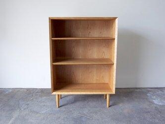 本棚 ブックシェルフ シンプルなデザイン チェリー 幅70cmの画像