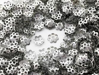 送料無料 ビーズキャップ 6mm シルバー 座金 花座 1000個 ビーズカバー アクセサリー パーツ (AP0823)の画像
