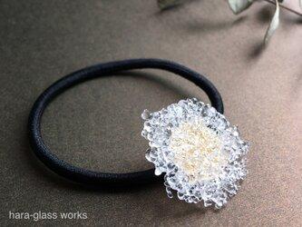 ガラスのヘアゴム  つぶつぶアクセサリー 箱付きの画像