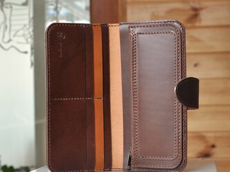 シンプルな長財布A No.10 ブッテーロの画像