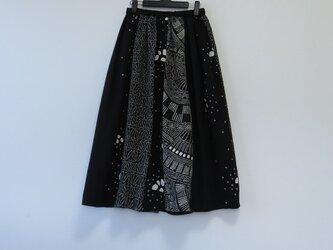 *アンティーク着物*絞りのパッチスカート(裏地つき)の画像