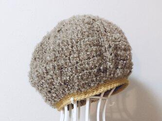 ブークレーのまあるいニット帽の画像