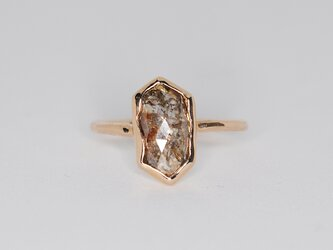 【k10】1点物 ナチュラルダイヤモンド リング #10の画像