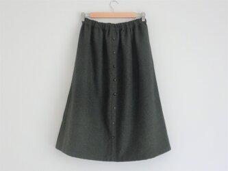 コットンビエラ起毛 charcoal スカートの画像