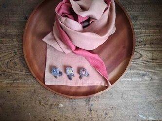 ブローチ「 square flower 」の画像