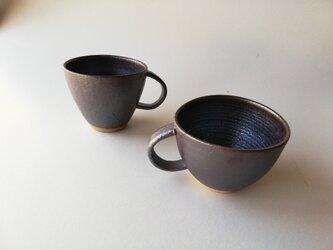鉄釉マグカップの画像