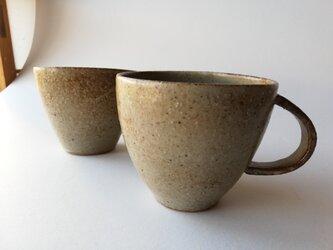 マット灰釉マグカップ2の画像