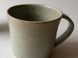マット灰釉マグカップの画像